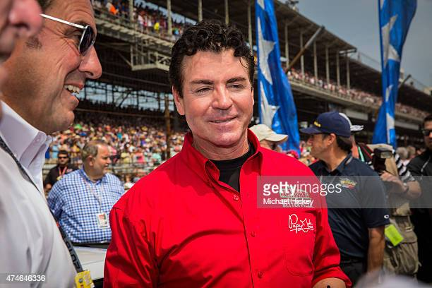 Papa John's founder and CEO John Schnatter attends the Indy 500 on May 23 2015 in Indianapolis Indiana