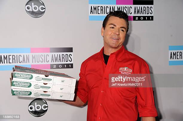 Papa John's founder John Schnatter arrives at the 2011 American Music Awards held at Nokia Theatre LA LIVE on November 20 2011 in Los Angeles...