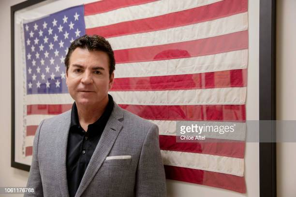 Papa John's founder John Schnatter is photographed for Wall Street Journal on July 21 2018 in Los Angeles California