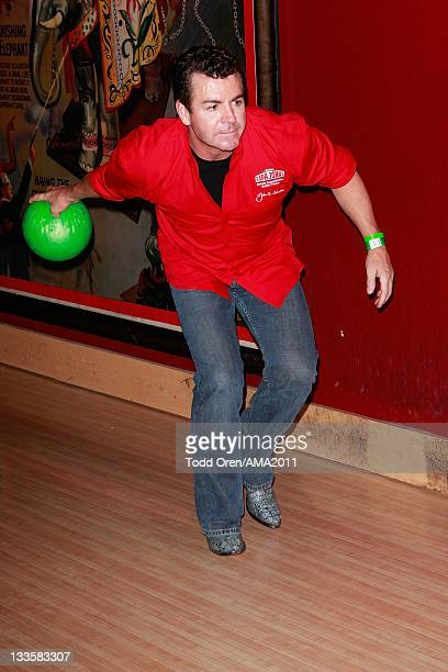 Papa John's owner John Schnatter bowls at the 2011 Amercian Music Awards Charity Bowl PreParty for American Red Cross at Lucky Strike Lanes at LA...