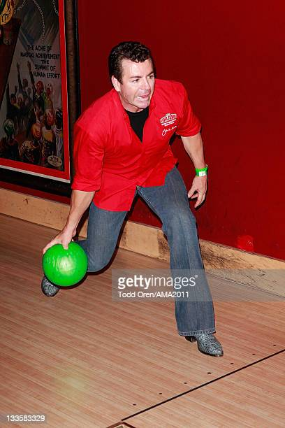 Papa John's owner John Schnatter bowls at the 2011 Amercian Music Awards Charity Bowl PreParty for American Red Cross at Lucky Strike Lanes at LA...