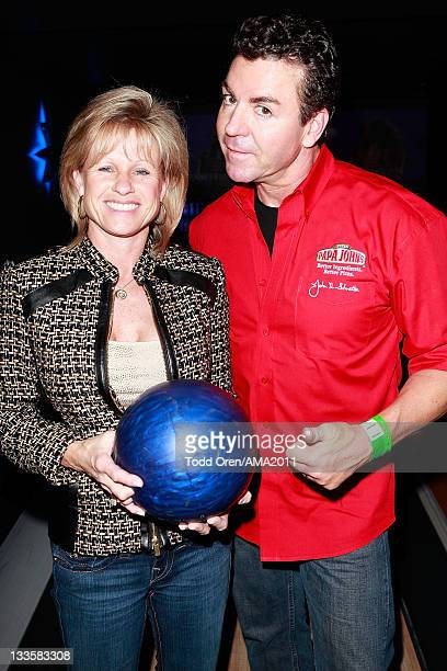 Papa John's owner John Schnatter poses at the 2011 Amercian Music Awards Charity Bowl PreParty for American Red Cross at Lucky Strike Lanes at LA...