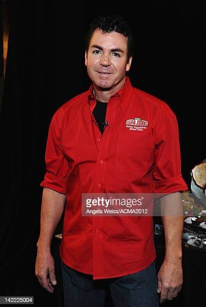 Papa John's Pizza CEO John Schnatter attends the Gift Lounge for the 47th Annual Academy Of Country Music Awards held at the MGM Grand Hotel/Casino...