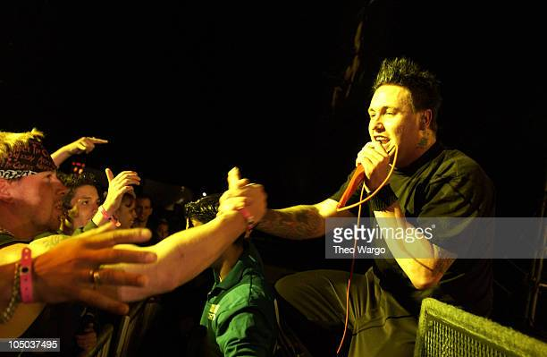 Papa Roach during KROCK 923 FM Radio New York Dysfunctional Family Picnic VI Backstage at Jones Beach Theater in Wantagh New York United States
