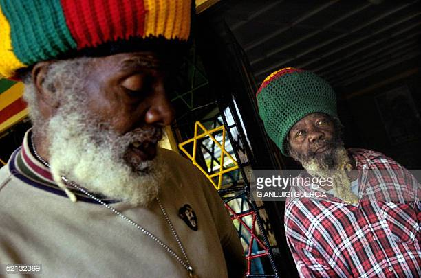 Papa Rocky head of the Nyabingi Rastafarian Community Patriarch of the Nyabingi Tabernacle in Shashamane and Rupert Edwards one of the brothers of...