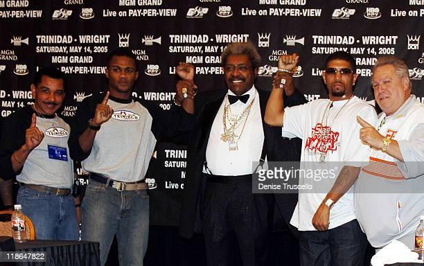 Papa Trinidad Felix Tito Trinidad Don King Winky Wright and Gary Shaw