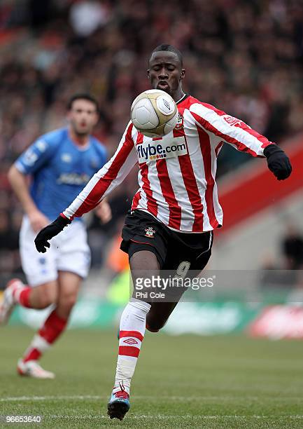 Papa Waigo N'Diaye of Southampton during the FA Cup sponsored by E.ON fifth round match between Southampton and Portsmouth at St Mary's Stadium on...