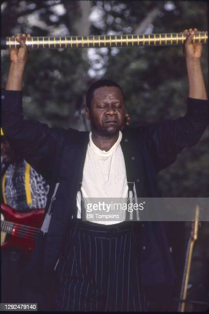 July 8: Papa Wemba performing at the Central Park Summerstage Concert Series on July 8th, 1995in New York City.