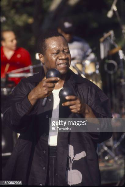 July 8: Papa Wemba performing at the Central Park Summerstage Concert Series on July 8th, 1995 in New York City.