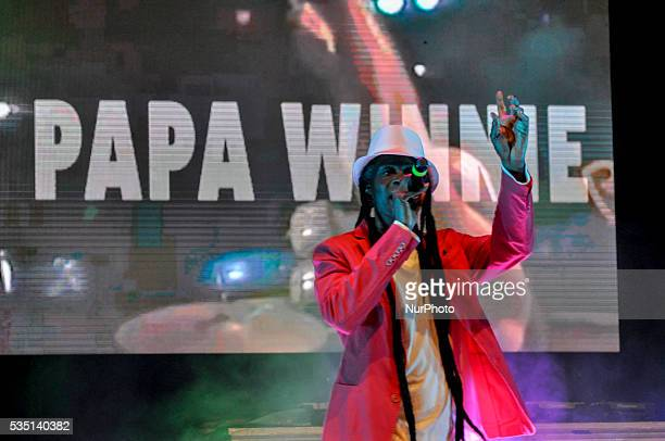 Papa Winnie performs live on stage of Cuore 80 in Castelfranco Veneto Italy on May 26 live music show with all the best music of the 80's
