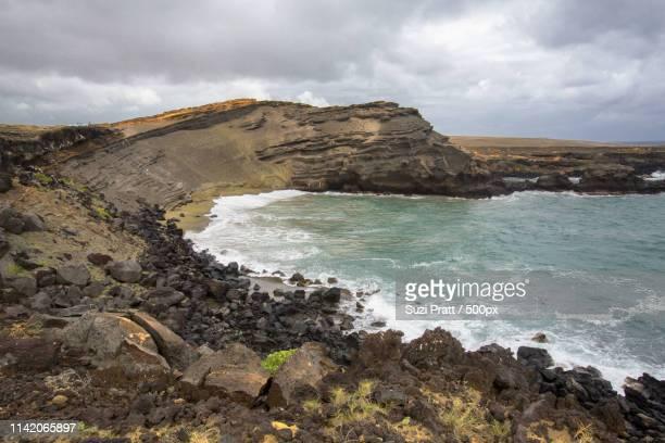 Papakolea Green Sand Beach On Big Island Hawaii