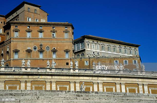 Papal apartments on Saint Peter's place, Vatican, Rome, Italy