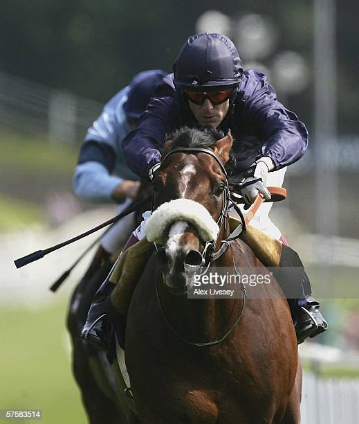 Papal Bull ridden by Keiron Fallon wins the MBNA Europe Bank Chester Vase race during the May Festival at Chester Racecourse on May 11 2006 in...