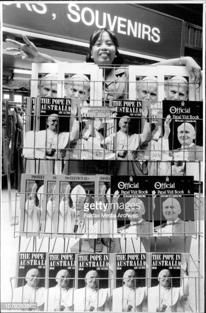 Papal Souvenir LeftoversEdith Estavillo of Kiosk 1 Central Railway Terminal is wondering how the Papal souvenirs will sell after the Pope has...