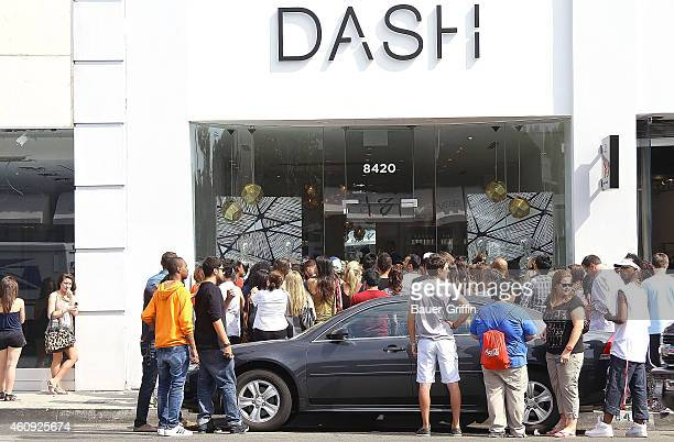 Paparazzi are seen outside at the Kardashian store on July 14 2012 in Los Angeles California
