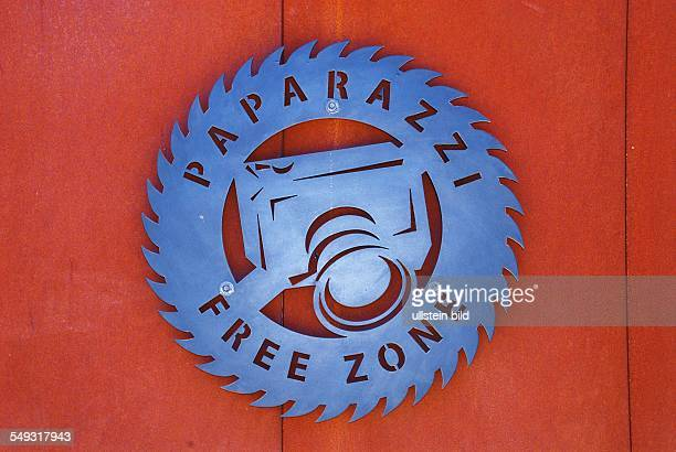 Paparazzi Free Zone in Los Angeles sign for protecting the privacy of the stars