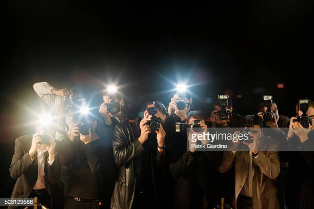 paparazzi photographing celebrities - awards ceremony stock pictures, royalty-free photos & images