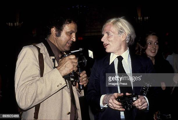 Paparazzi Ron Gallela and Andy Warhol circa 1978 in New York City