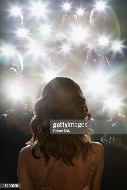 paparazzi taking pictures of celebrity - celebrities photos stock pictures, royalty-free photos & images