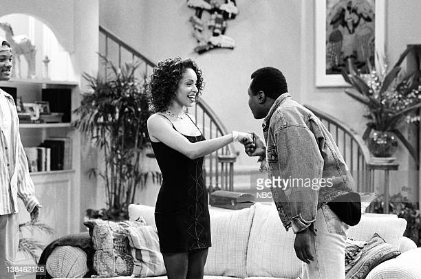 AIR THE 'Papa's Got a Brand New Excuse' Episode 24 Pictured Karyn Parsons as Hilary Banks Ben Vereen as Lou Smith