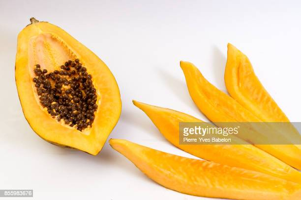 papaya fruit - papaya stock photos and pictures