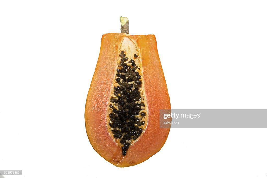 Papaya halves : Stock Photo