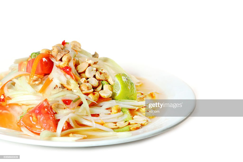 Papaya salad Thai food : Stockfoto