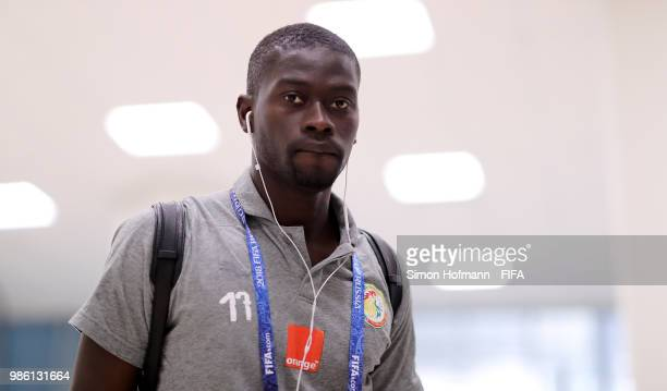 Pape Alioune Ndiaye of Senegal arrives at the stadium prior to the 2018 FIFA World Cup Russia group H match between Senegal and Colombia at Samara...