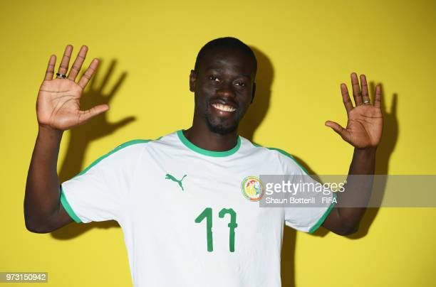 Pape Alioune Ndiaye of Senegal poses for a portrait during the official FIFA World Cup 2018 portrait session at the team hotel on June 13 2018 in...