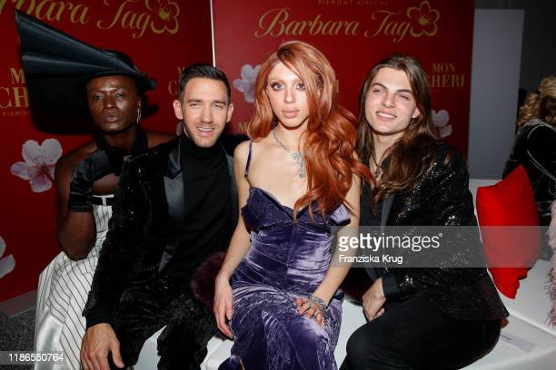 Pape Badji Marcel Remus Anna Ermakova and Damian Hurley during the Mon Cheri Barbara Tag at Isarpost on December 4 2019 in Munich Germany