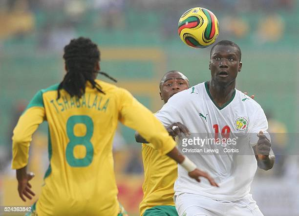 Pape Bouba Diop during the CAF 2008 African Cup of Nations Group D match between Senegal and South Africa at the Baba Yara Stadium in Kumasi Ghana...