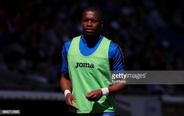 Pape Diop during the match between RCD Espanyol and Deportivo Alaves on April 08 2017