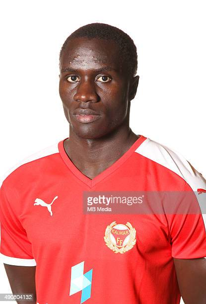 Pape Diouf of Kalmar FF during a portrait session on March 3 2015 in KalmarSweden