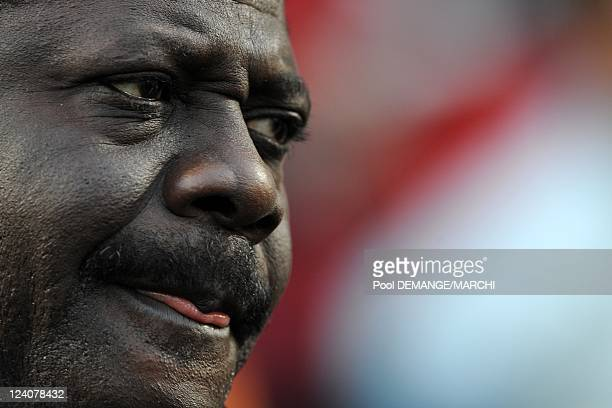 Pape Diouf president of the Olympic games of Marseilles In Metz France On April 12 2008 Pape Diouf former journalist president of the Olympics games...