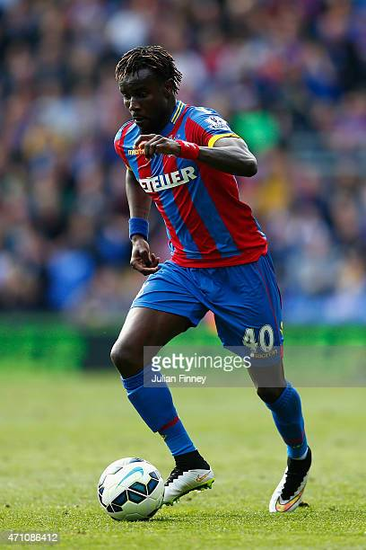 Pape N'Diaye Souare of Crystal Palace in action during the Barclays Premier League match between Crystal Palace and Hull City at Selhurst Park on...