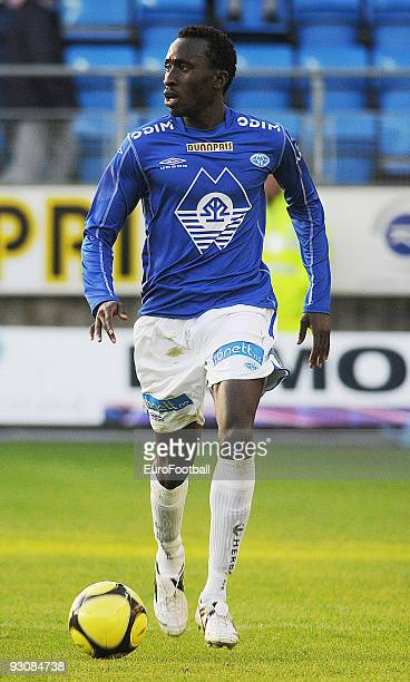Pape Pate Diouf of Molde FK during the Norwegian Tippeligaen match between Molde FK and Stabaek IF held on October 17 2009 at the Aker Stadion in...