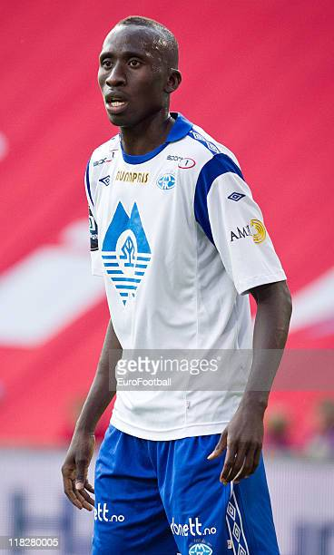 Pape Pate Diouf of Molde FK in action during the Norwegian Tippeligaen match between Valerenga Fotball and Molde FK held on June 29 2011 at the...