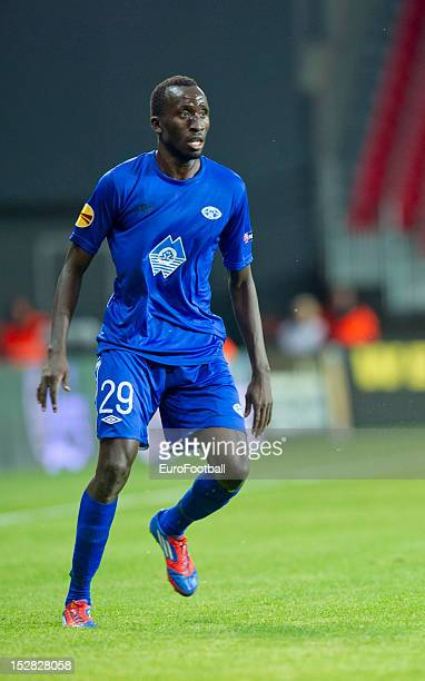 Pape Pate Diouf of Molde FK in action during the UEFA Europa League group stage match between FC Kobenhavn and Molde FK on September 20 2012 at...