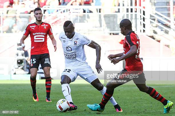 Pape Sane of Caen during the french Ligue 1 match between Stade Rennais and SM Caen at Stade de la Route de Lorient on September 11 2016 in Rennes...