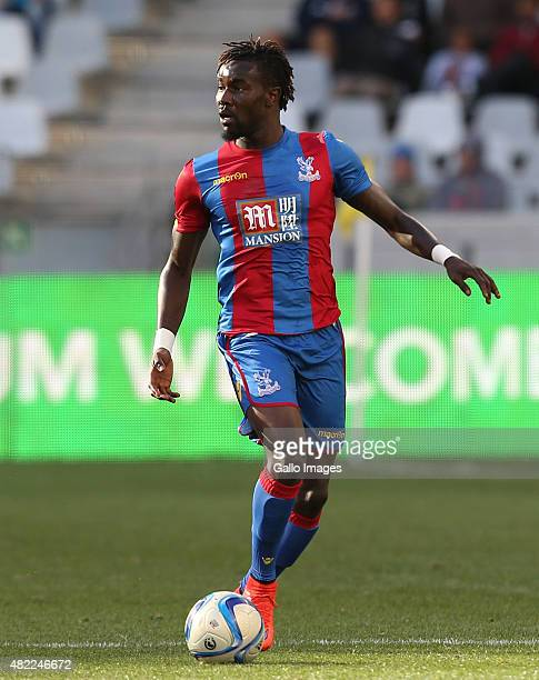 Pape Souare of Crystal Palace during the 2015 Cape Town Cup Final match between Crystal Palace FC and Sporting Lisbon at Cape Town Stadium on July 26...