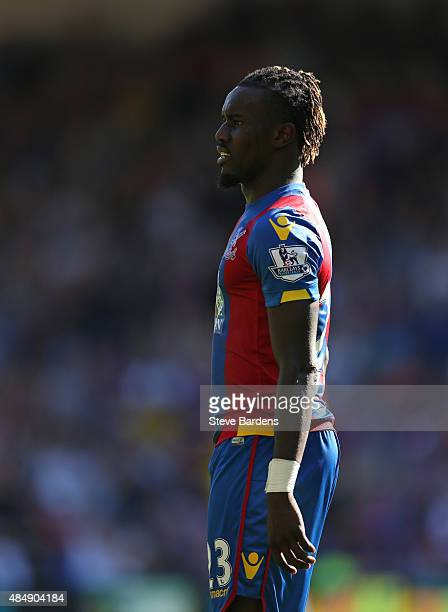 Pape Souare of Crystal Palace during the Barclays Premier League match between Crystal Palace and Aston Villa at Selhurst Park on August 22 2015 in...