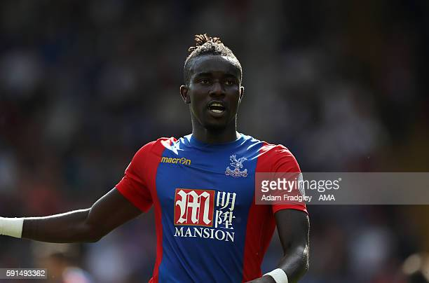 Pape Souare of Crystal Palace during the Premier League match between Crystal Palace and West Bromwich Albion at Selhurst Park on August 13 2016 in...