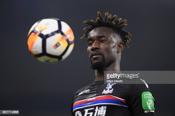 Pape Souare of Crystal Palace in action during The Emirates FA Cup Third Round match between Brighton Hove Albion and Crystal Palace at Amex Stadium...