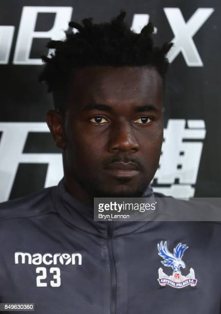 Pape Souare of Crystal Palace looks on prior to the Carabao Cup Third Round match between Crystal Palace and Huddersfield Town at Selhurst Park on...