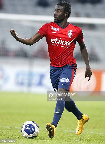 Pape Souare of Lille in action during the French League Cup match between Lille OSC and Girondins de Bordeaux at Grand Stade Pierre Mauroy stadium on...
