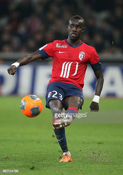 Pape Souare of Lille in action during the french Ligue 1 match between LOSC Lille and Stade de Reims at the Grand Stade Pierre Mauroy on January 12...