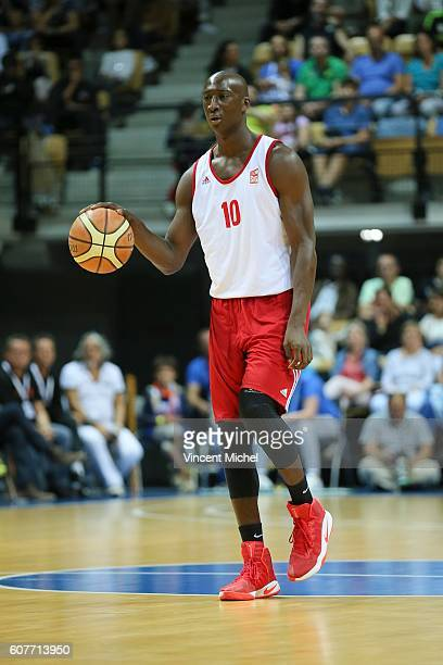 Pape Sy of Strasbourg during the Final match between Strasbourg and Gravelines Dunkerque at Tournament ProStars at Salle Arena Loire on September 17...