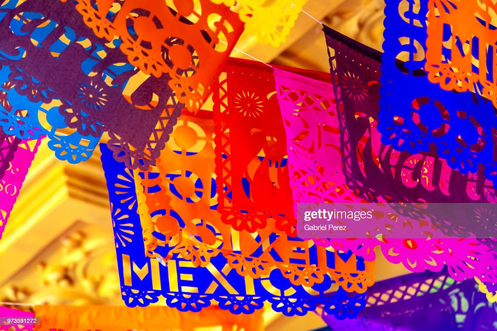 Papel Picado: The Traditional Folk Art of Mexico : Stock Photo