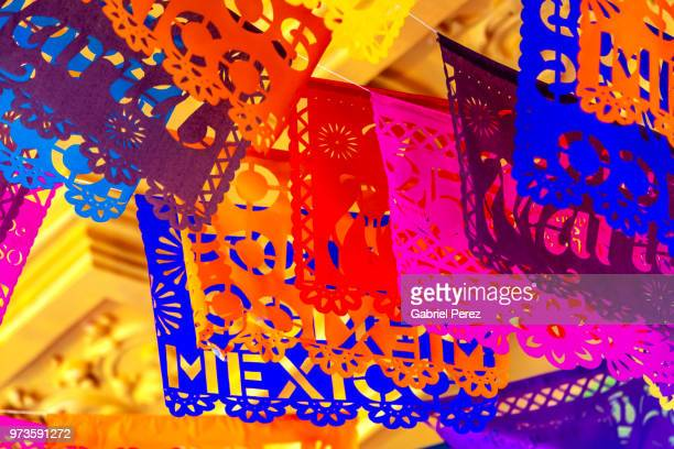papel picado: the traditional folk art of mexico - all souls day stock photos and pictures