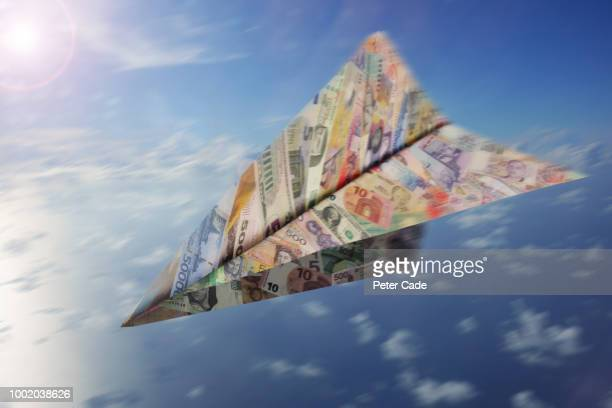 Paper airplane made of money